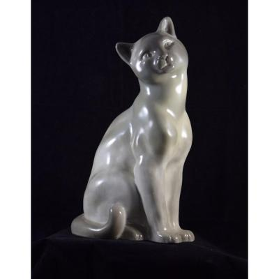 Camille  Tharaud  , chat en porcelaine , Limoges vers 1930-1945