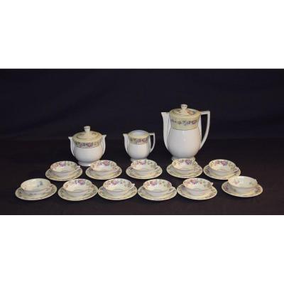 Limoges Porcelain Tea Service, Lanternier & Cie