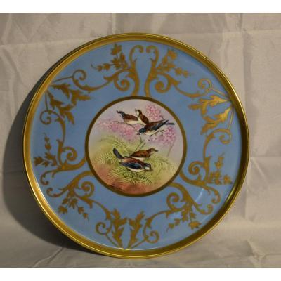 P.pastaud Et Leroussaud, Limoges Porcelain Dish Hand Painted.