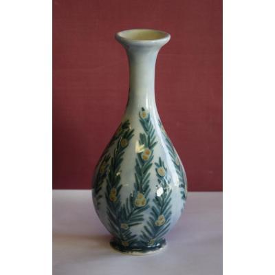 Vase soliflore en porcelaine , Camille Tharaud , Limoges vers 1935