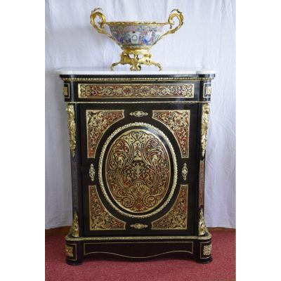 Support Cabinet In Boulle Marquetry, Napoleon III Period