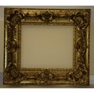 Regency Style Frame In Wood And Gilded Stucco.