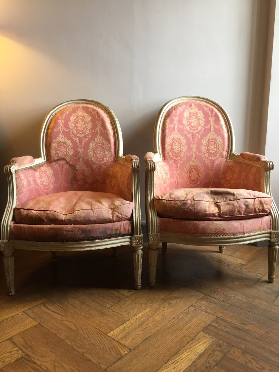 Pair Of Louis Bergeres 16