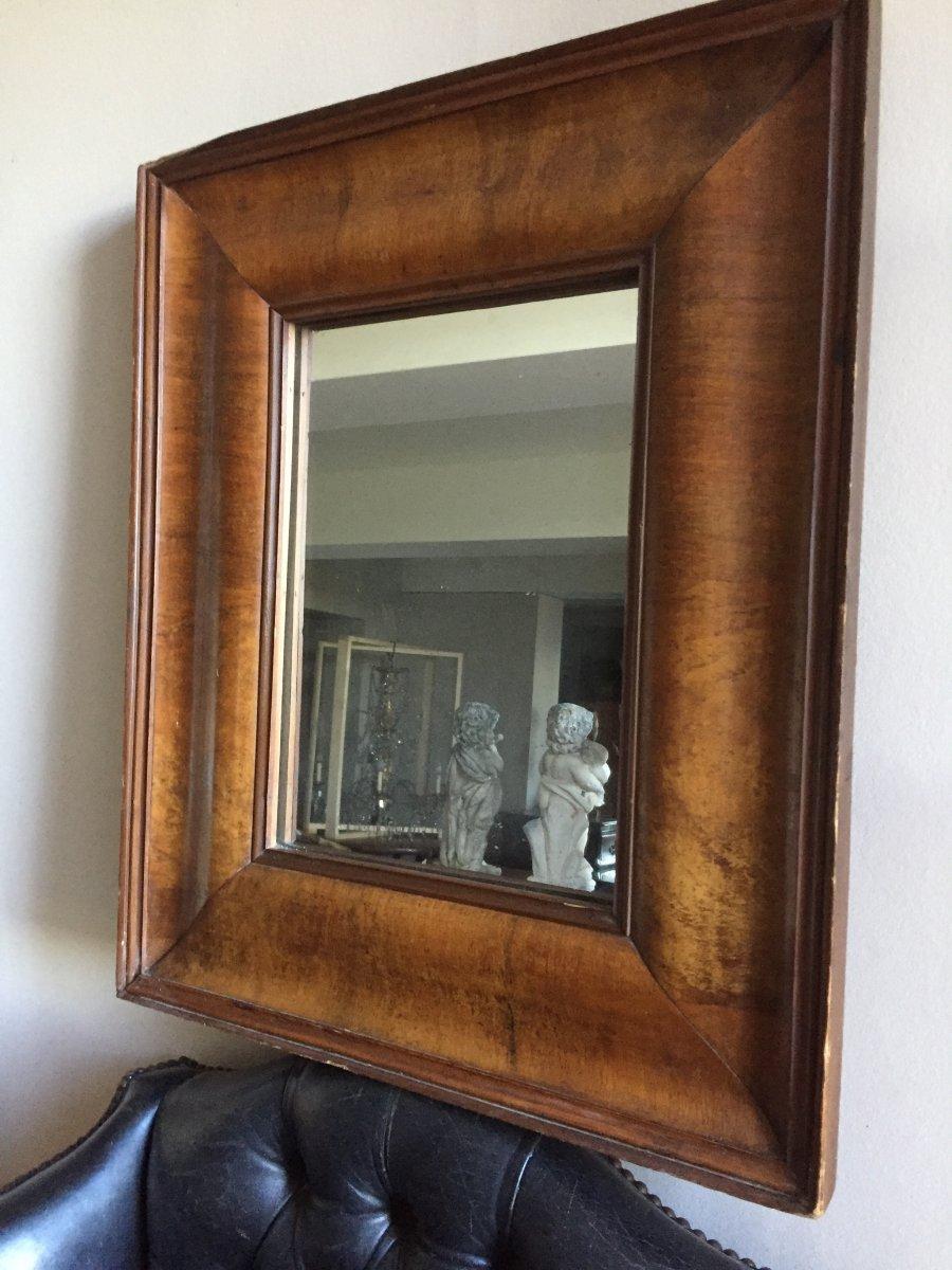 Miroir  Placage  De Noyer