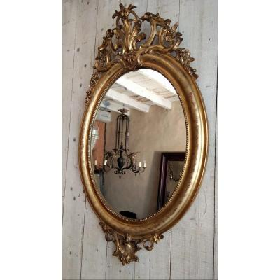 Louis Philippe Oval Mirror