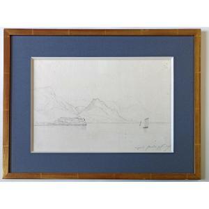 Jules Coignet (1798-1860), Paysage du Lac de Garde, 9 octobre 1837