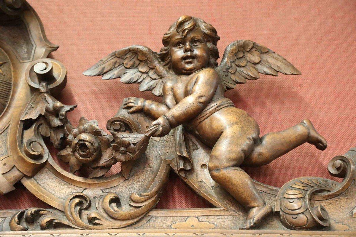 Exceptionnel Buffet En Noyer Richement Sculptés Vers 1880 Style Renaissance -photo-1