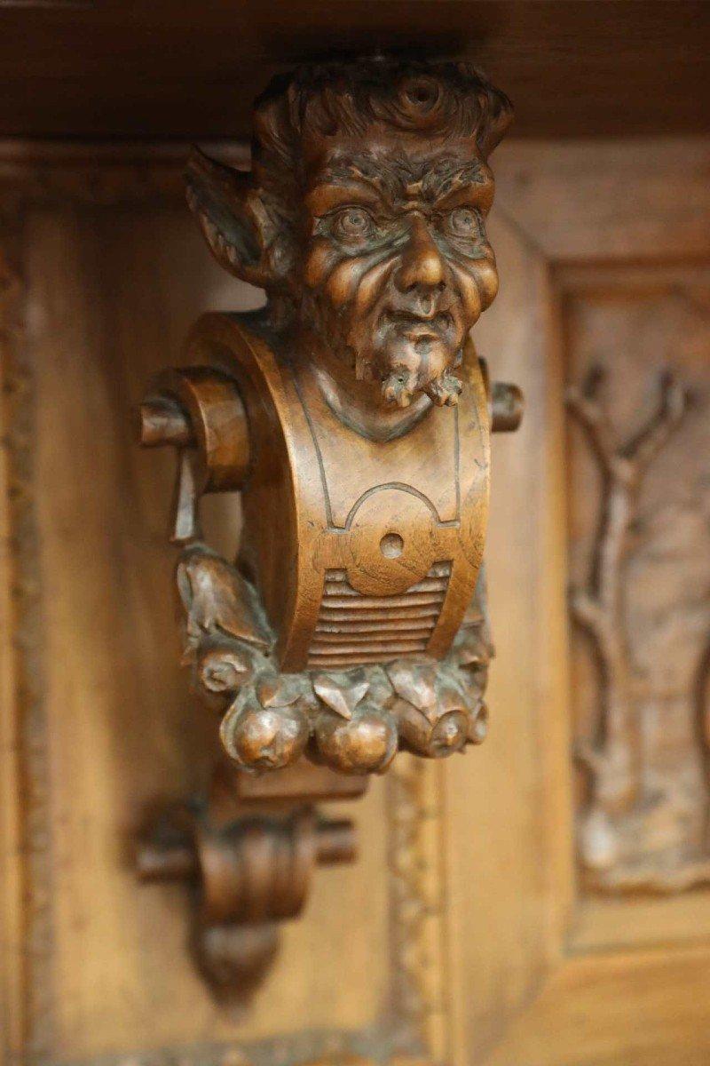 Exceptionnel Buffet En Noyer Richement Sculptés Vers 1880 Style Renaissance -photo-5