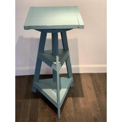 Early 20th Century Sculptor Stand In Painted Wood