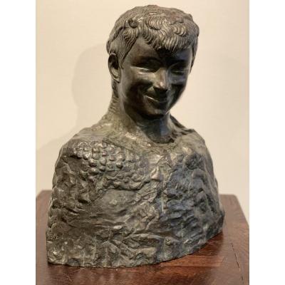 Le Faune Riant Sculpture En Bronze Par André Abbal