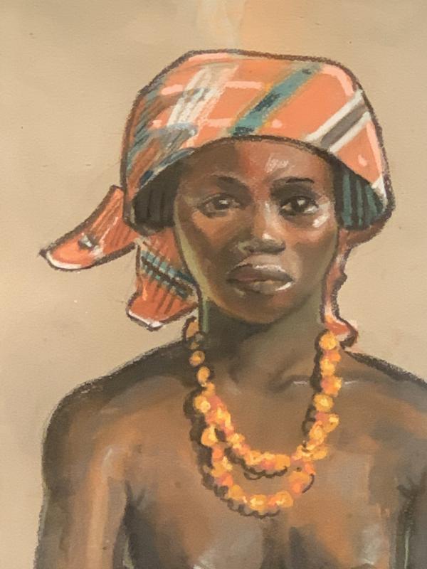 Pastel Africaniste De Maurice David -photo-2