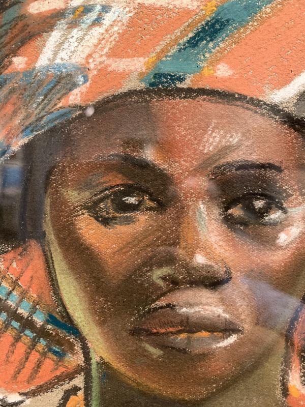Pastel Africaniste De Maurice David -photo-4