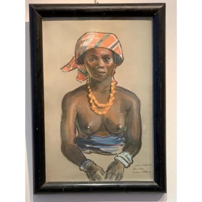 Pastel Africaniste De Maurice David