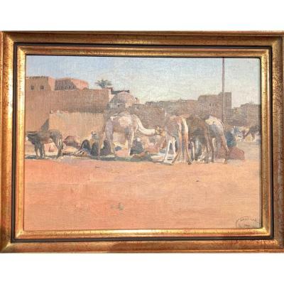 l'Oasis De Tolga (algérie) Par Paul Alexandre Leroy