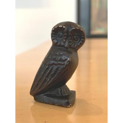 Petite Chouette En Bronze d'Après l'Antique