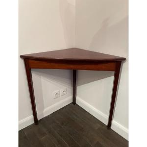 Table d'Angle Encoignure En Acajou  Vers 1950
