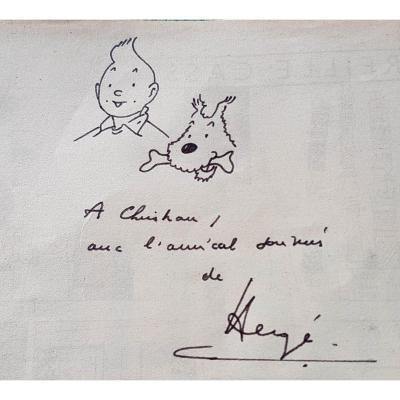 Dédicace de Hergé