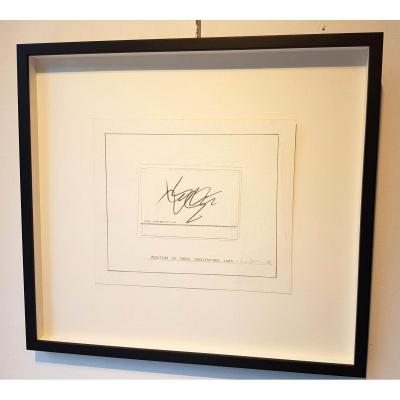 """Bernar Venet """"position Of 3 Undetermined Lines"""" 1982, Signed & Dated"""