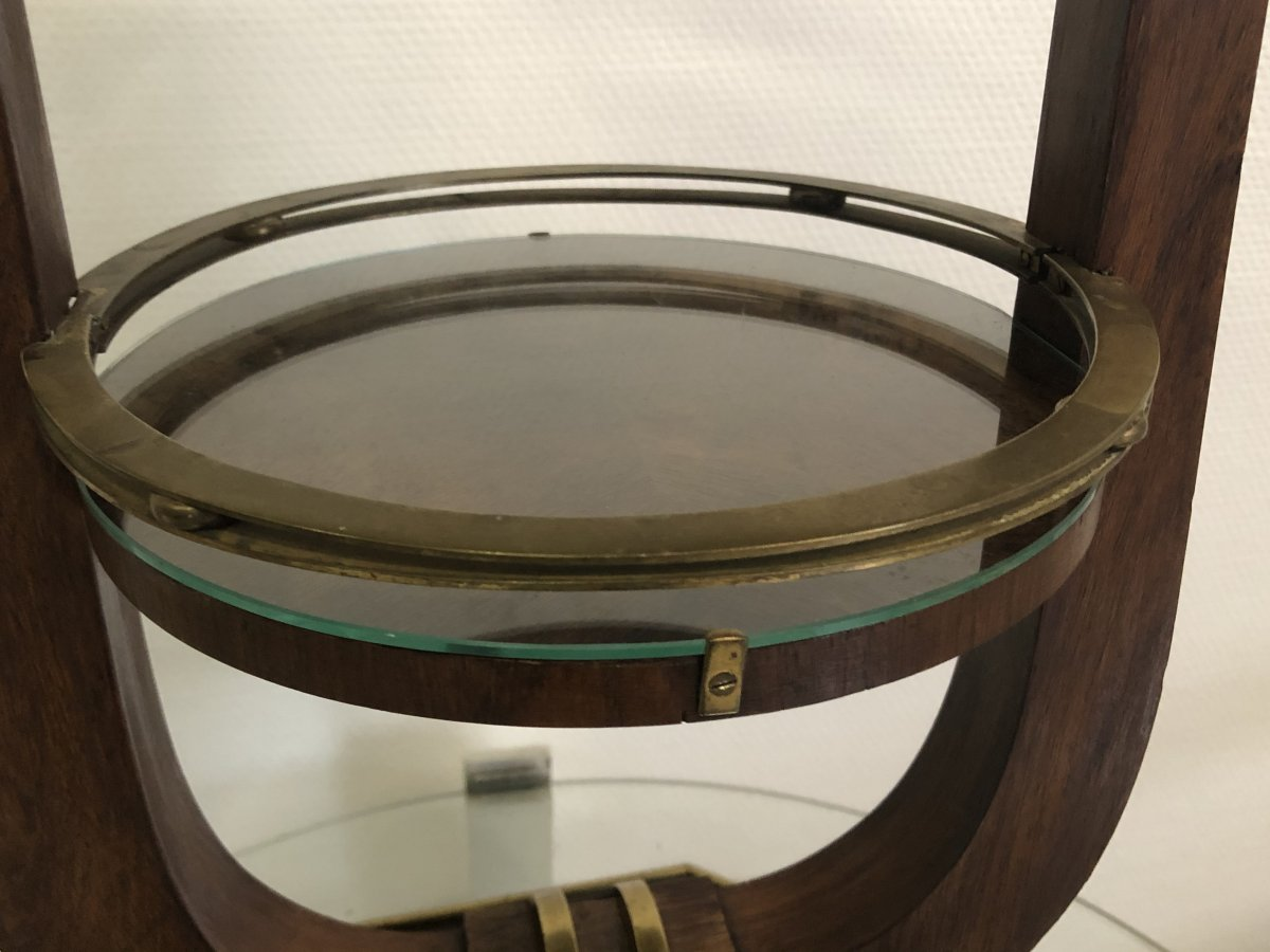 French Stamped Occasional Table Circa 1930 -photo-2