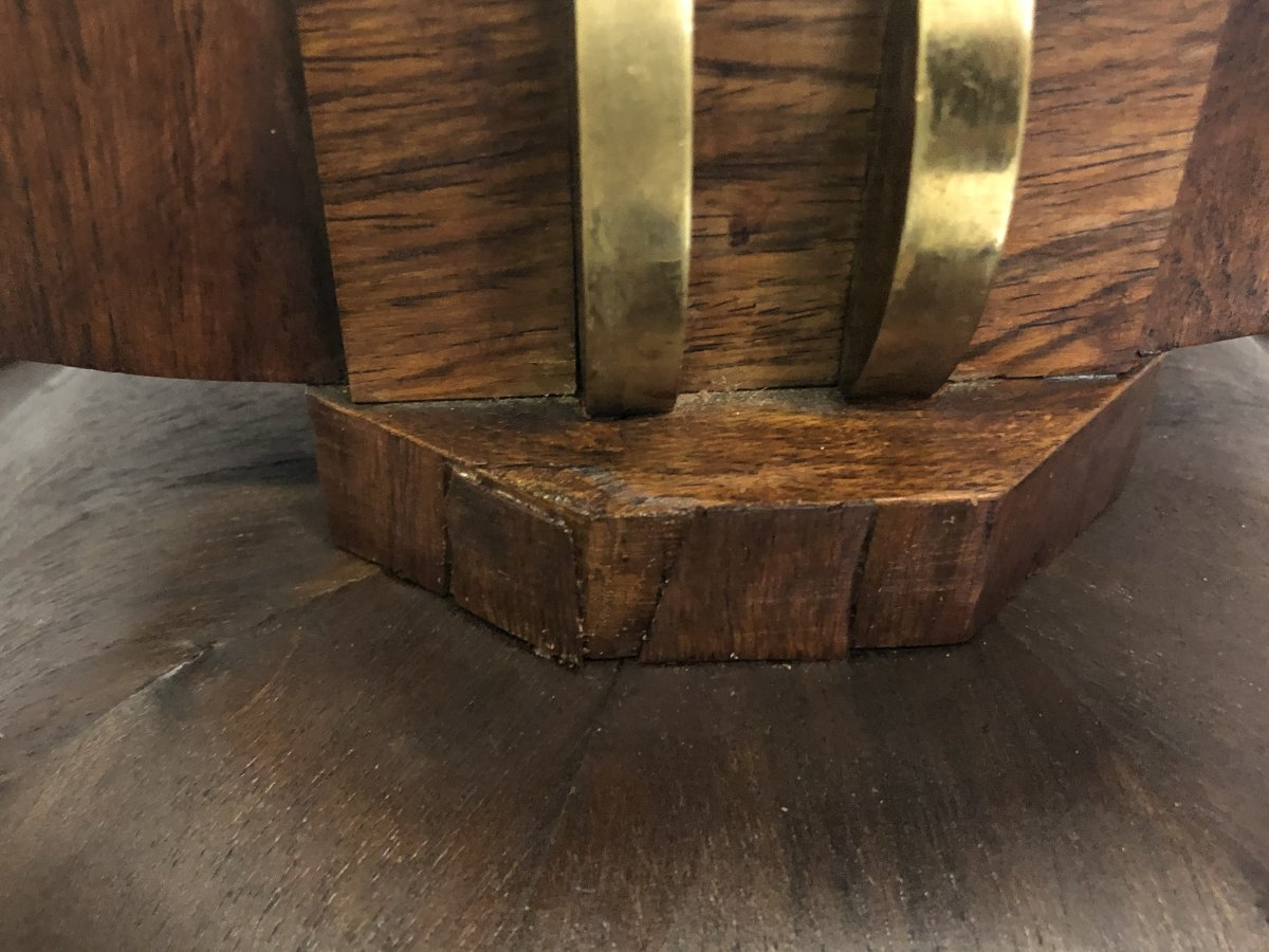 French Stamped Occasional Table Circa 1930 -photo-3