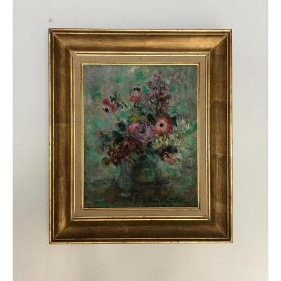 Lilian Whitteker 1881 - 1979. Still Life In Oil On Canvas Signed And Dated 1970