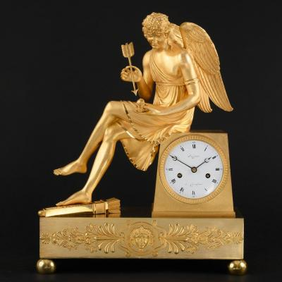 Exceptionally Rare French Empire Clock With Eros