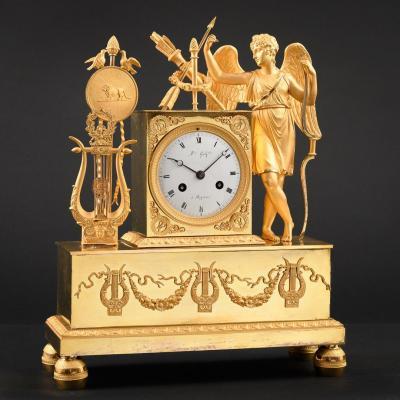 Pendule Empire Mythologique Eros Et Musique