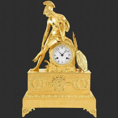 Historical Clock With Roman Soldier