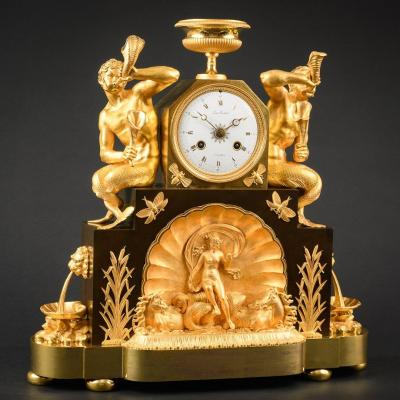 """Imposante Pendule Empire """"triomphe D'amphitrite"""" Signée Louis Berthoud (1754-1813)"""