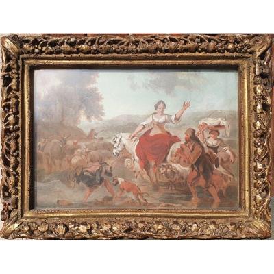 Nicolaes Berchem Aquarelle 17e XVIIe