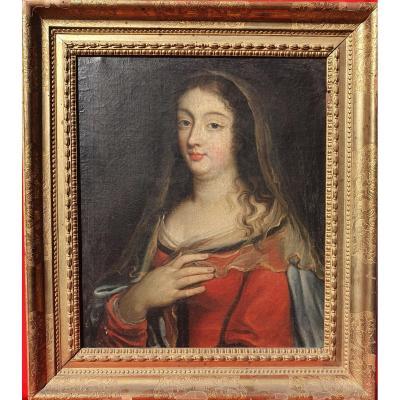Portrait Of Madame De Maintenon (presumed ) 17th Louis XIV