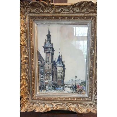 Watercolor By Frank Will La Conciergerie Paris