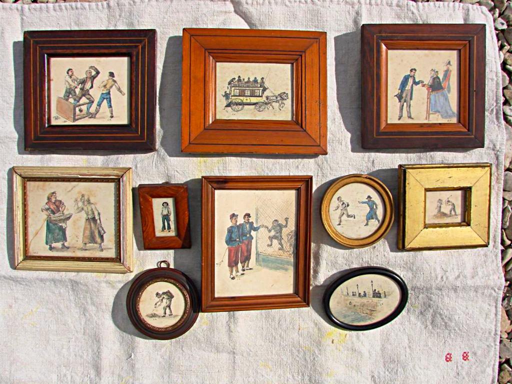 ensemble de dix dessins originaux de Louis Vallet