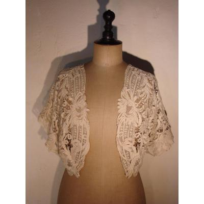 Open Bolero Lace Short Sleeves From Luxeuil In The 1900s