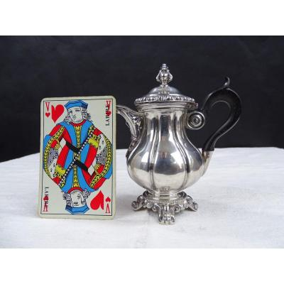 Silver Miniature Coffee Maker, Masterpiece By Martial Fray In Paris Around 1850