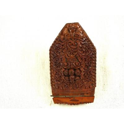 Snuff Box In Corozo With Two Tobaccos Late 18 Early 19 Th