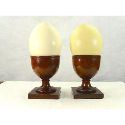 Pair Of Egg Cups For Ostrich Eggs Early XIX Eme Century