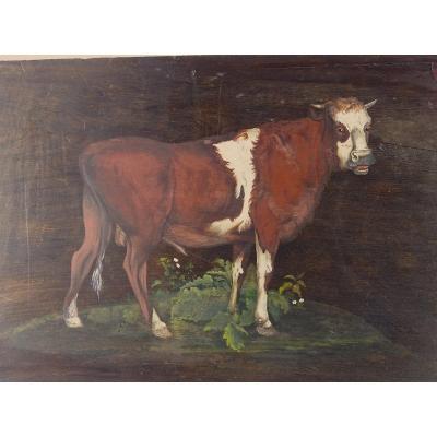 Ecritoire décoré de scènes animales de la campagne courant 19 eme siècle