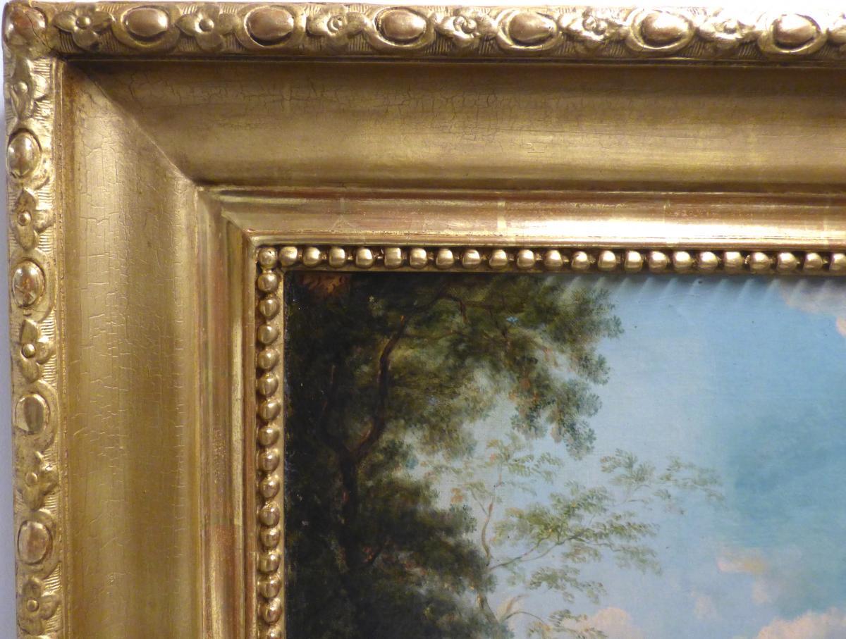 Paysage Animé Perret Henri Francois 19ème