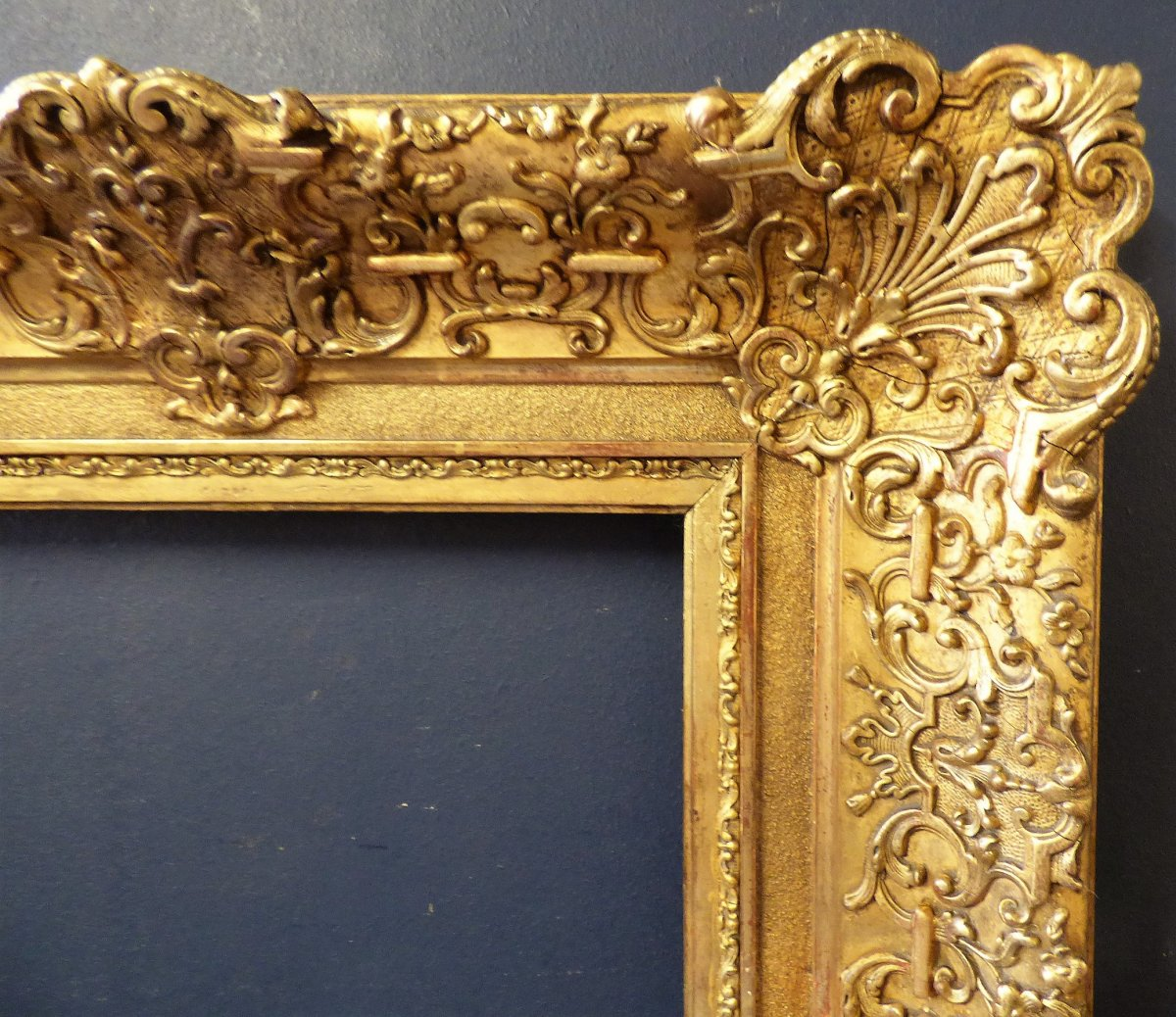 Wooden Frame And Stucco Gilded 19th