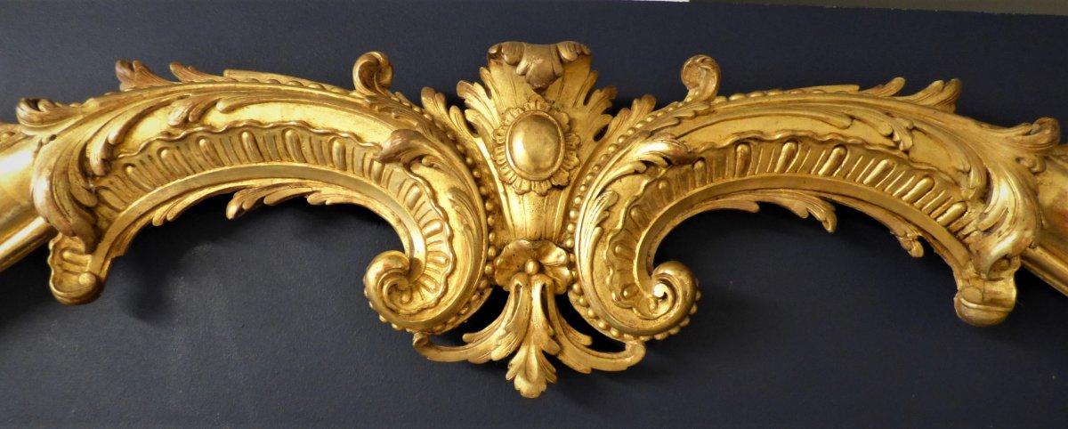 Paire De Cadres En Bois Doré d'époque Louis XV
