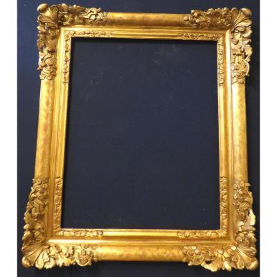 Cadre d'époque Louis XIV En Bois Doré
