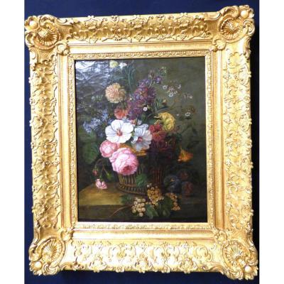 Tableau De Fleurs 19ème