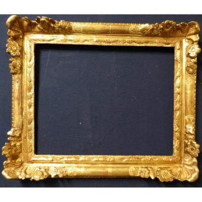 Cadre En Bois Doré d'époque Louis XIV
