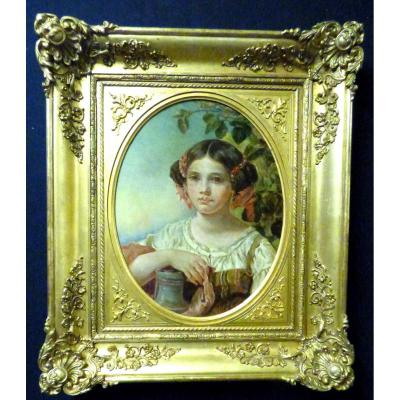 Portrait De Jeune Fille XIXè
