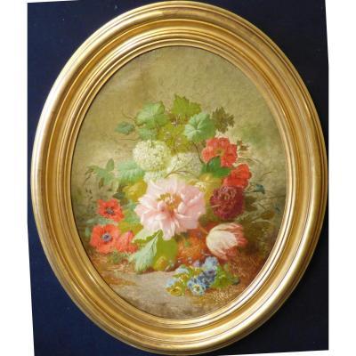 Bouquet De Fleurs Pivoines et Coquelicots