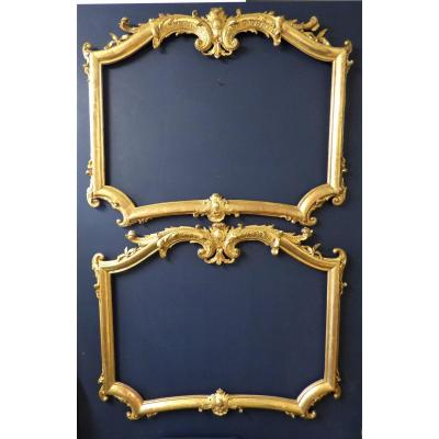 Pair Of Frames In Golden Wood Louis XV