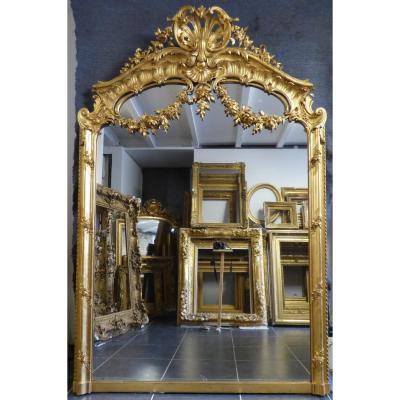 Grand Miroir époque 19ème 205x135cm