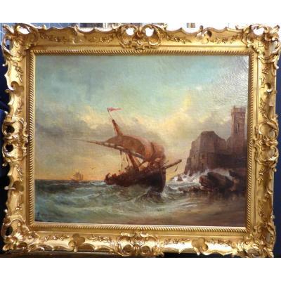Joseph Guichard Peintre De Marine 1830/1877