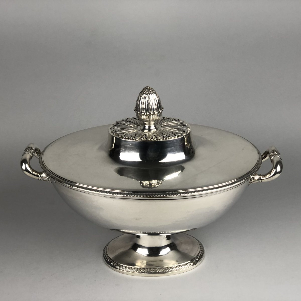 Soup Tureen In Silver, Empire Period, By Odiot In Paris.-photo-2